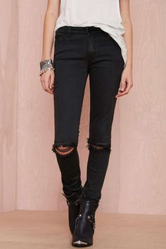 RES Denim Trashqueen Skinny Jean - Distressed Black