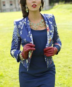 Another great find on #zulily! Blue Floral Perth Blazer by Shabby Apple #zulilyfinds