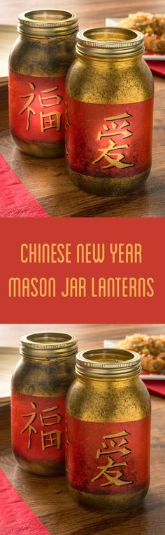 Turn regular mason jars into a fun Chinese New Year craft with tissue paper, paint, and Mod Podge. This DIY is perfect for themed party decorations! Fun craft for kids, too.