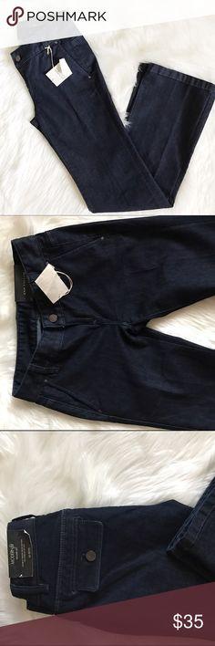 """•NWT• Ann Taylor Modern fit trouser leg jeans. Net, size 00P. Waist across 13.5"""" Waist down 37. Inseam 30"""" Ann Taylor Tops"""