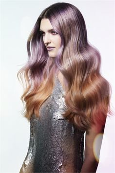 * HOW-TO: Color Melting: Geodesic Sectioning Technique >>> Redken Color Formulas, Curling Techniques, Redken Color Extend, Color Melting, Pastel Hair, Dyed Hair, Hair Inspiration, Curls, Long Hair Styles
