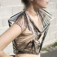 Wearable Art - delicate fashion sculpture; architectural fashion // Pascaline Viraben