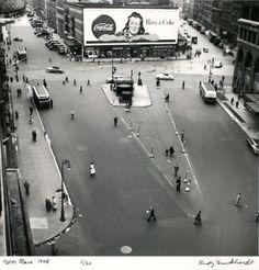 Rudy Burckhardt - Astor Place, New York City, 1948
