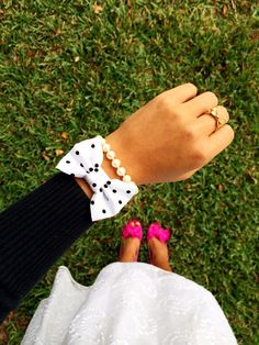 """The """"Diana"""" Bow Bracelet -- Love this girls style and every bow bracelet she makes!"""