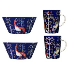 Iittala Taika Serviesset Set van 4 - Blauw - afbeelding 1