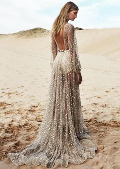 runwayandbeauty: Absolutely love this!! Sparkly gown by One Day Bridal 2016 Collection. INSTAGRAM