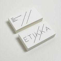ETTIKA logo corporate design visual identity graphic branding business card