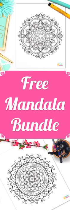 Free Mandala Bundle • As promised I'm sharing with you today an exclusive Free Mandala Bundle, which I created especially for YOU to say 'Thank You!' for your support. Your daily votes and encouragement mean a lot to me and I'm utterly thankful you made it possible for Wundertastisch to win the Boho Berry Small Business Owner Essay Contest. You rock!