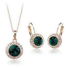 Fashion zircon jewelry set 331144+321001