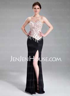 Evening Dresses - $182.99 - Sheath Sweetheart Floor-Length Chiffon Charmeuse Evening Dress With Beading (017019560) http://jenjenhouse.com/Sheath-Sweetheart-Floor-Length-Chiffon-Charmeuse-Evening-Dress-With-Beading-017019560-g19560