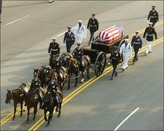 Ronald Reagan Funeral Horse Drawn Caisson Photo