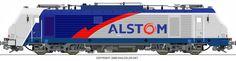 RAILCOLOR.NET - modern locomotive power #railcolor #alstom #prima