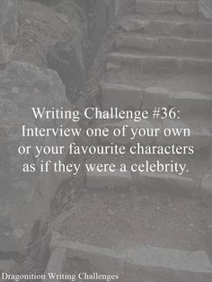 Writing Challenge #36