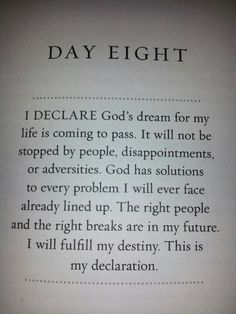 Day 8, January 8, 2013--God Is In Control