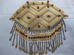 A Huge Silver Turkomen Pectoral. Wonderful workmanship and in excellent condition. Weight: almost one kilo. Khaneikey.com