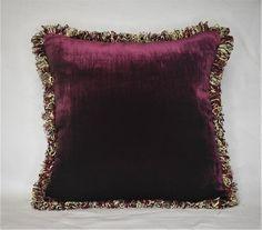 burgandy silk velvet cushions - Google Search Traditional Pillows, Black Pillows, Shades Of Beige, White Velvet, Burgundy And Gold, Silk Pillow, Velvet Cushions, Fabric Samples, Sofa Pillows