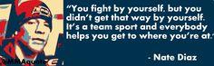 nate diaz gracie | Nate Diaz: MMA is a Team Sport