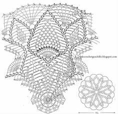 Crochet Umbrellas Archives - Beautiful Crochet Patterns and Knitting Patterns Free Crochet Doily Patterns, Crochet Doily Diagram, Crochet Chart, Thread Crochet, Filet Crochet, Crochet Motif, Irish Crochet, Crochet Doilies, Knitting Patterns