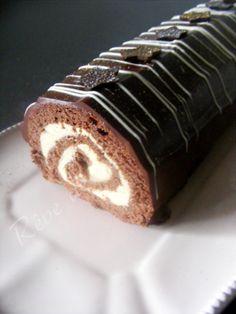 Gâteau roulé (ou bûche) au chocolat, Crème légère