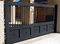 Not only about home interior design, home fence design is also one of the things that need to be considered by you as a wise homeowner. Every guest who visits must definitely pass the outside of yo… Metal Fence Gates, Fence Gate Design, Modern Fence Design, Steel Gate Design, Front Gate Design, Main Gate Design, House Gate Design, Wrought Iron Fences, Modern House Design