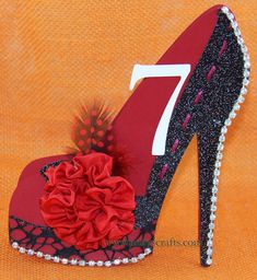 Cloth, Paper Crafts and More...: High Heel Shoe 3D Table Cards