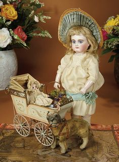 Bread and Roses - Auction - July 26, 2016: Lot #84 Rare French Bisque Bebe by Pierre-Victor Clement with Deposed Hollow Leather Body
