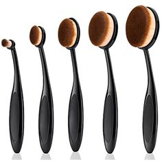 Makeup brush,Yiercolor 5pcs Super Soft Oval Toothbrush Makeup Brush Set Foundation Brushes Contour Powder Blush Concealer Brush Makeup Cosmetic Tool Set *** Find out more about the great product at the image link. (This is an affiliate link) #MakeupBrushSetsKits