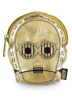 """C3PO Metallic"" Coin Purse by Loungefly #InkedShop ~ Star Wars fashion"