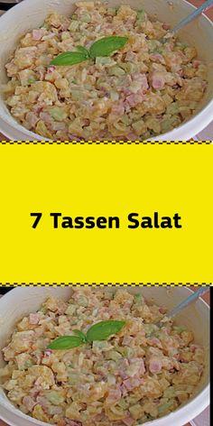 Zutaten 1 Tasse Kartoffel(n) gewürfelt gekochte 1 Tasse Schinken gekochter gewürfelt 1 Tasse Ei(er) gekochte gewürfelt 1 Tasse Äpfel geschält entkernt und gewürfelt 1 Tasse Salatgurke(n) geschält und gewürfelt 1 Tasse Zwiebel(n) gewürfelt 1 Tasse Mayo Salz und Pfeffe Stecken Sie das Bild unten in eines Ihrer Pinterest-Boards um es bei Bedarf immer bei sich zu haben. Dadurch können wir auch von Pinterest weiter gefördert werden. Zubereitung Je nach Größe der Tasse oder des Bechers kann ..