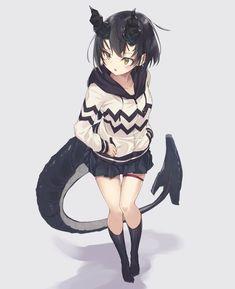 Sucubus Anime, Anime Furry, Anime Art, Cute Characters, Fantasy Characters, Anime Characters, Anime Monsters, Cute Monsters, Character Inspiration
