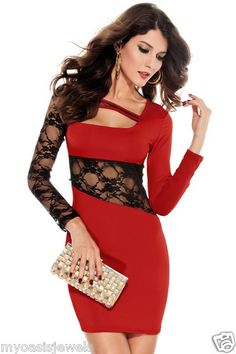 Red and Black Club Dresses