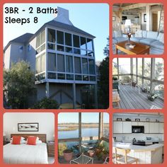 Timbercreek 12A: This rustic Bald Head Island condo has beautiful views of the marsh and creek from the screened porch. A private dock is just a stone's throw away. Old Baldy, the beach and all the marina attractions are very close.