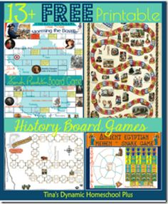 13+ FREE Printable History Board Games (Middle Ages, Egypt, Mayflower, and more!) #homeschool #historyforkids #freeprintables