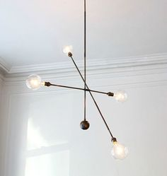 Shop Chairish, the design lover's curated marketplace for the best in vintage and contemporary furniture, decor and art. Ceiling Pendant, Pendant Lighting, Ceiling Lights, Apparatus Lighting, Ceiling Lamp, New York Homes, Modern Chandelier, Chandeliers, Eclectic Decor