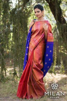 Looking for half saree color combinations ? Check out 21 cool looking half saree designs with trending colors and modern appeal. Indian Bridal Sarees, Indian Silk Sarees, Kerala Saree, Bridal Mehndi, Wedding Sarees Online, Saree Wedding, Half Saree Designs, Blouse Designs, Blouse Patterns