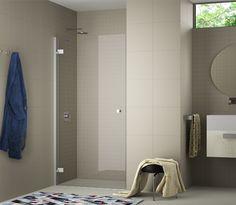 Mamparas ducha y baño completamente abatibles, sin ninguna parte fija para aprovechar el espacio al máximo Colección STAND-ART 1 PTA. ABATIBLE ®