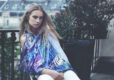 Gorgeous Sky Blue 3D silk scarf Tie Dye, Scarves, Sky, Blue, Tops, Women, Fashion, Scarfs, Heaven