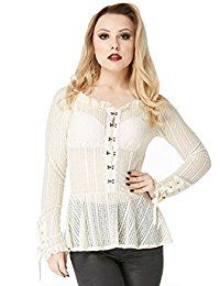 New Jawbreaker Gothic Steampunk Retro Vintage Victorian Sexy Lace Top Shirt online. Find the perfect iGENJUN Tops-Tees from top store. Sku AJTP62386VUDG88755