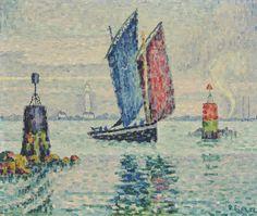All sizes | Paul Signac - Le Sardinier, Locmalo (Les Tourelles) [1922] | Flickr - Photo Sharing!
