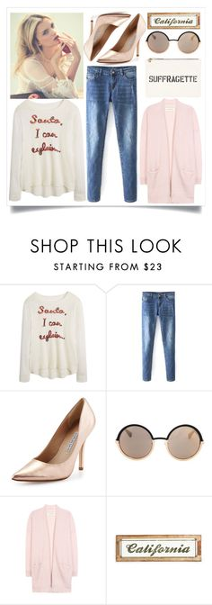 """""""Street Style"""" by madeinmalaysia ❤ liked on Polyvore featuring Charles David, Marc by Marc Jacobs, By Malene Birger and Poncho & Goldstein"""