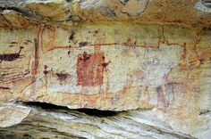 Rock art recently discovered at Serra da Capivara national park in Brazil's northeastern Piaui state, some dating back 30,000 years.