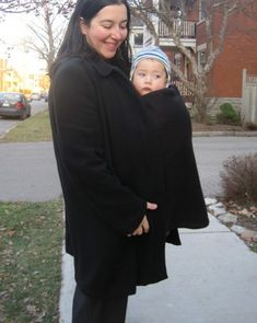 DIY to Expand your coat - for pregnancy and then for baby wearing.