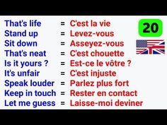 French Language Lessons, Spanish Language Learning, French Lessons, English Lessons, French Sentences, French Phrases, French Words, French Expressions, English Study