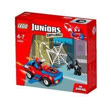 LEGO Juniors 10665 Spider-Man: Spider-Car Pursuit(Discontinued by manufacturer) Lego Juniors, Toys R Us, Lego Marvel Superheroes 2, Avengers Comics, Marvel Vs, Spiderman Car, Iron Man Captain America, Lego 4, Barbie