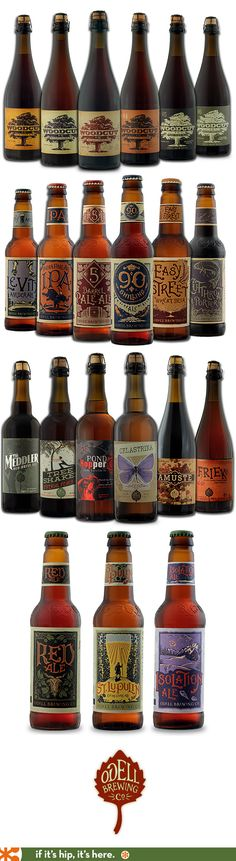 The Beautiful Beer Labels from Odell Brewing Company.