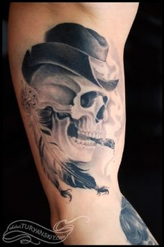 Skull Tattoos 20 - 80 Frightening and Meaningful Skull Tattoos  <3 <3