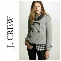 J.Crew Stadium Cloth Sasha Peacoat NWOT - In perfect condition! 79% Wool 21% Nylon lining: 100% acetate Stadium cloth wool from italian wool makers Nello Gori. J. Crew Jackets & Coats