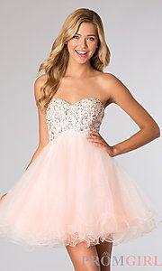 Buy Short Strapless Sweetheart Dress at PromGirl