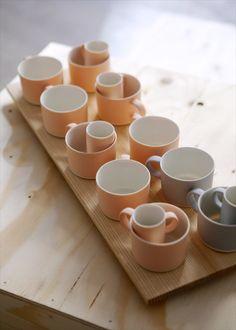 A small, thin porcelain capuccino cup handmade by ceramics artist Nathalie Lautenbacher (Lahdenmäki). Handmade in Finland. Cappuccino Cups, Ceramic Artists, Espresso, Furniture Design, Porcelain, Tableware, Helsinki, Organic, Gift Ideas