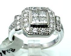14K WHITE GOLD 1.45CT TDW DIAMOND ANNIVERSARY RING 7.25 B41 #Unbranded #Friendship #Anniversary